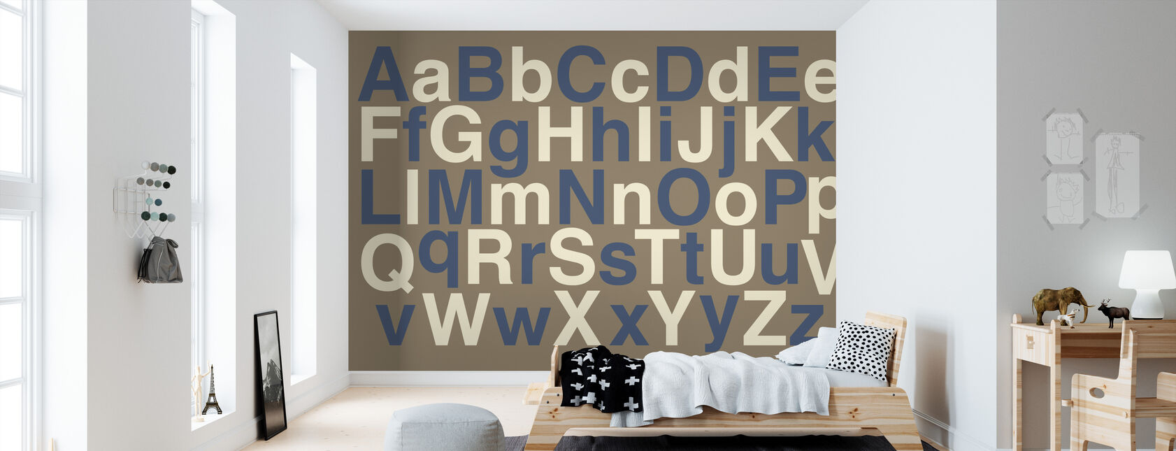 Alfabet - Behang - Kinderkamer