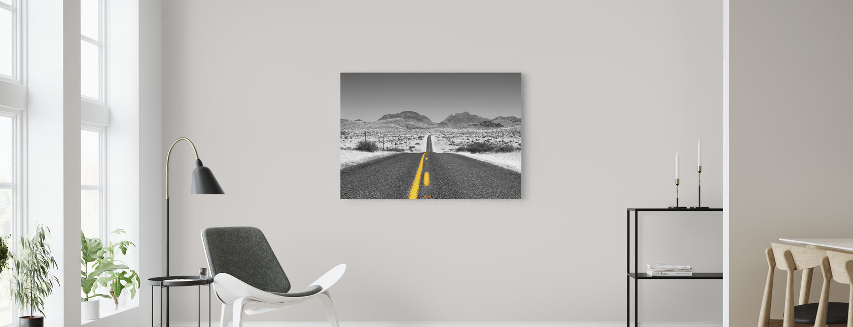 Mistet Highway - Colorsplash - Lerretsbilde - Stue