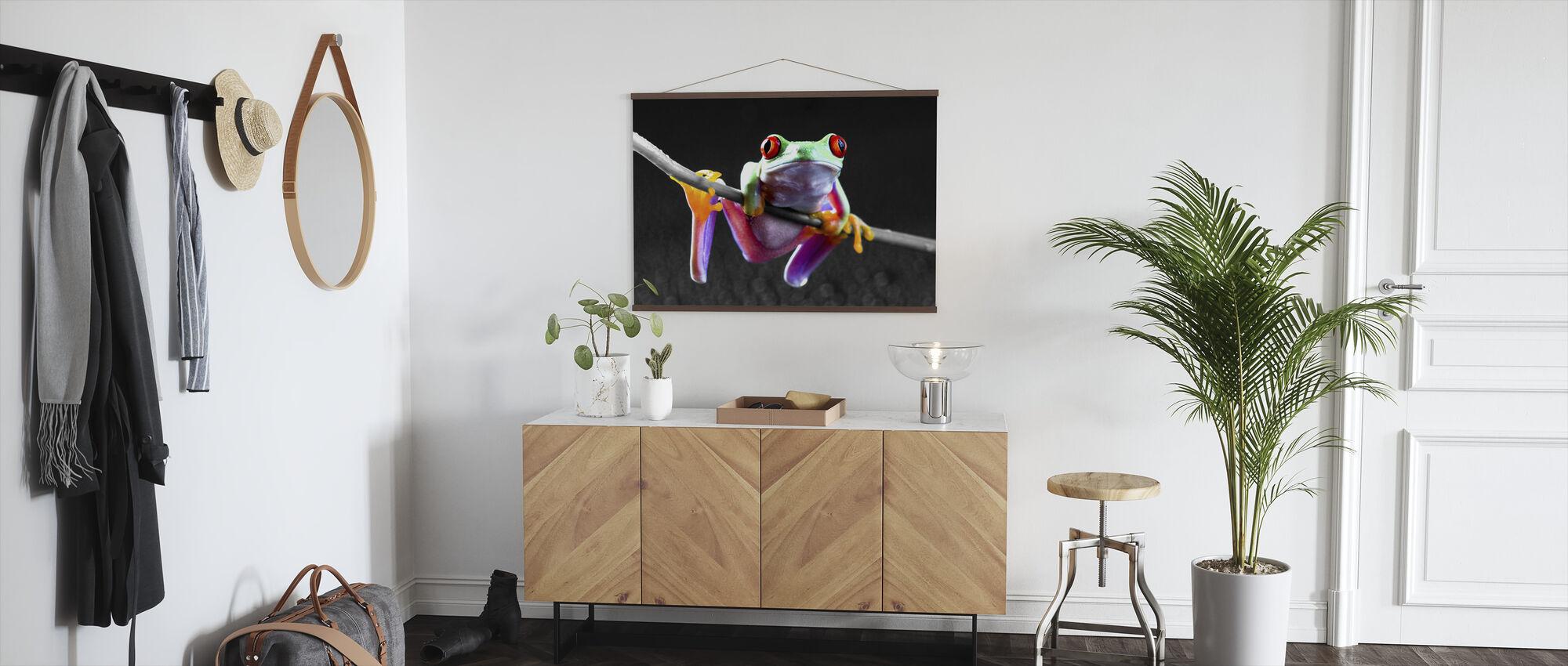 Red Frog - Colorsplash - Poster - Hallway