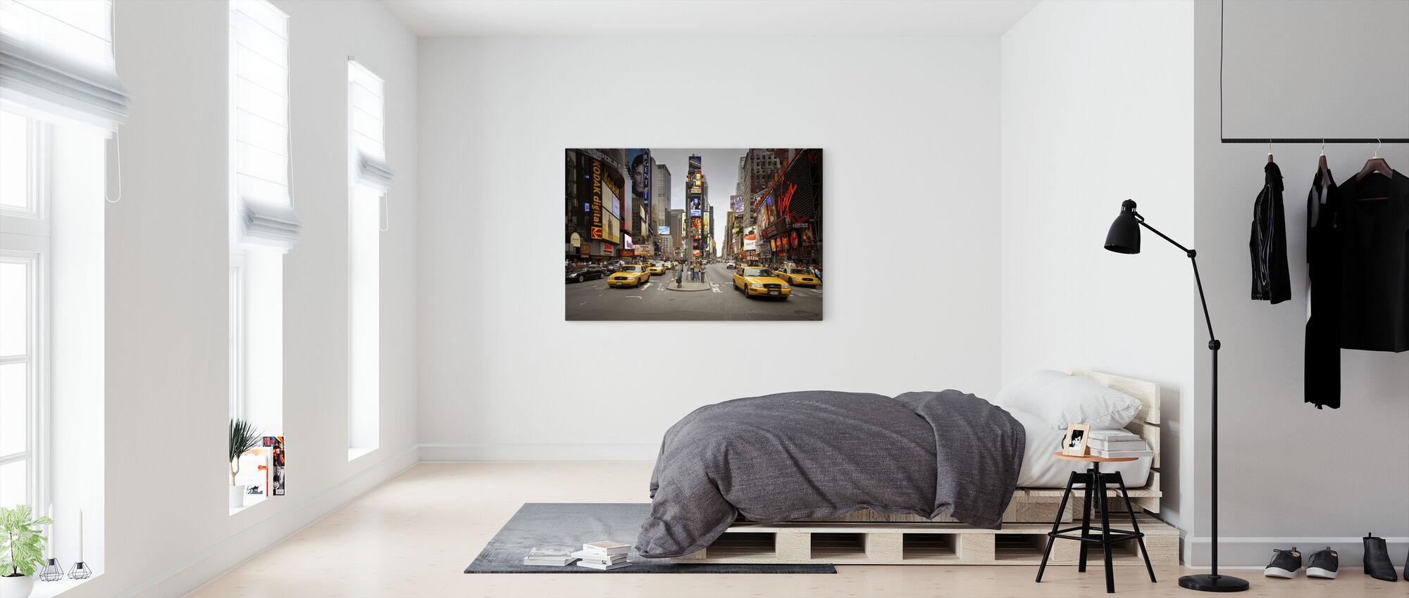 Times Square, New York, USA - Billede på lærred - Soveværelse