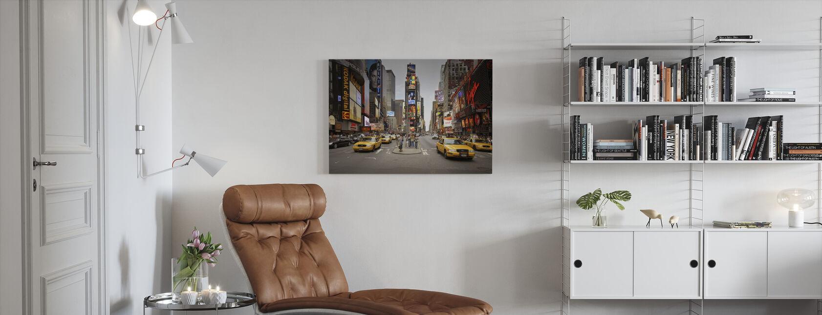 Times Square, Nueva York, Estados Unidos - Lienzo - Salón