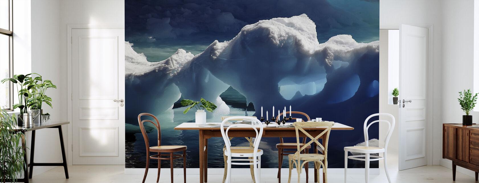 Antarktische Eishöhlen - Tapete - Küchen
