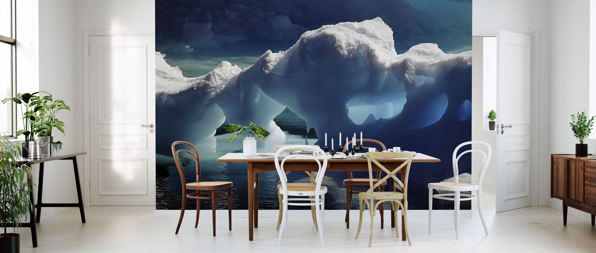 Antarctic Ice Caves - Wallpaper - Kitchen