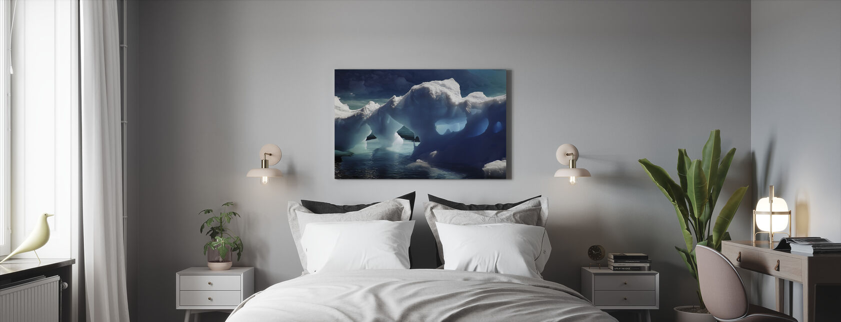 Antarctic Ice Caves - Canvas print - Bedroom