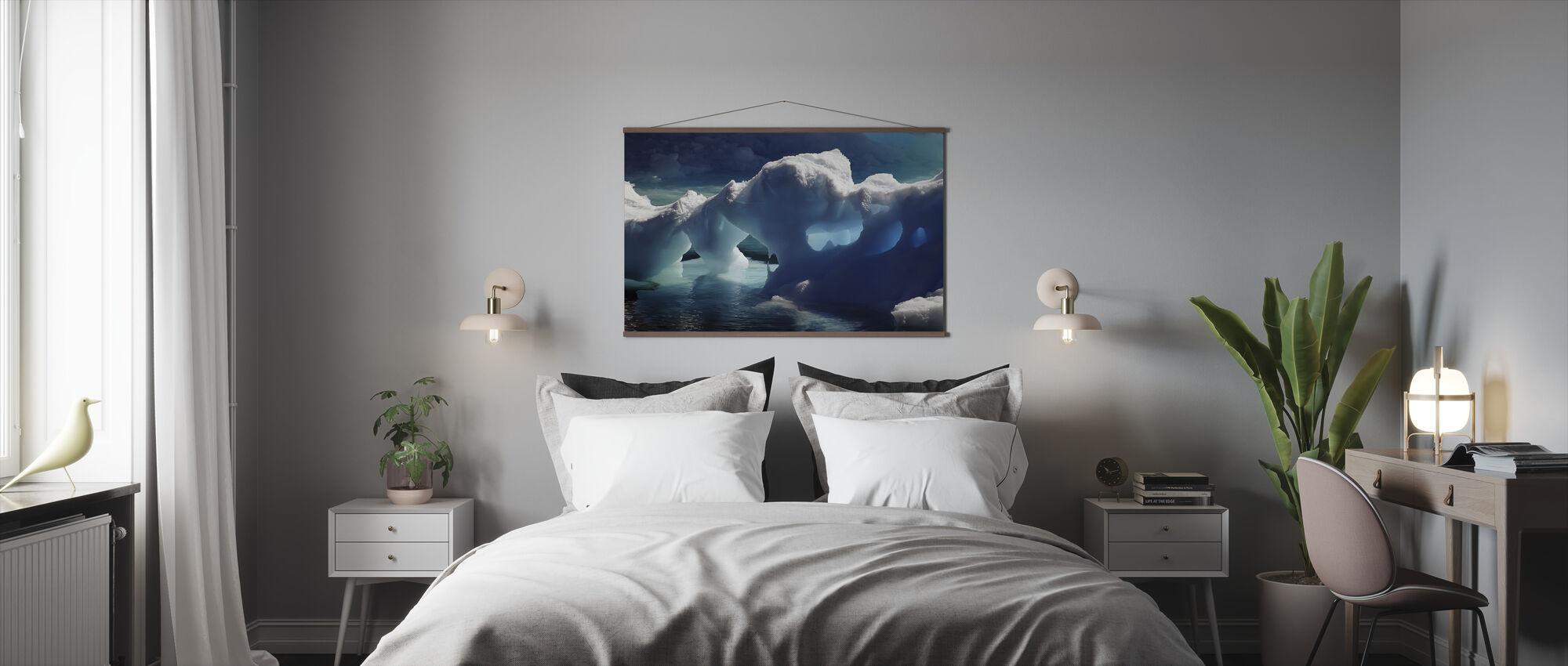 Grottes de glace de l'Antarctique - Affiche - Chambre
