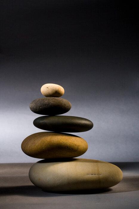 Stones In Zen Balance Popular Wall Mural Photowall