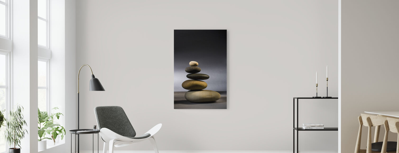 Stones in Zen Balance - Canvas print - Living Room