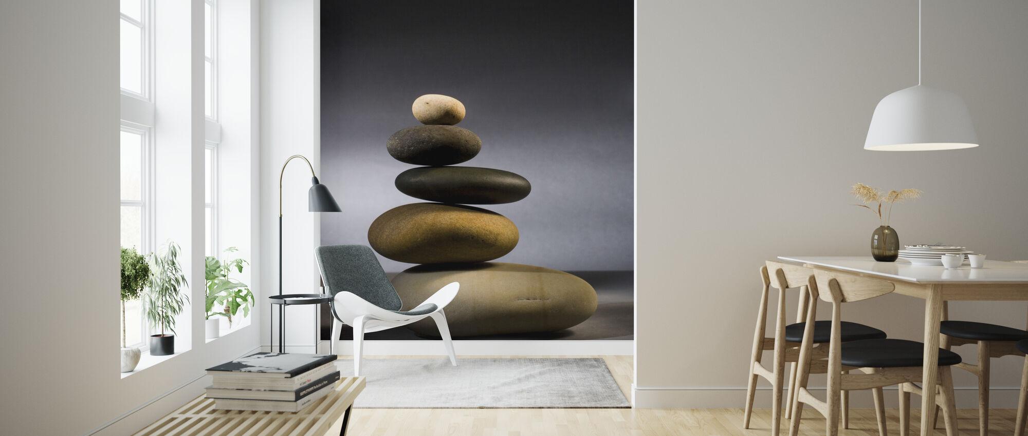 Stones in Zen Balance - Wallpaper - Living Room