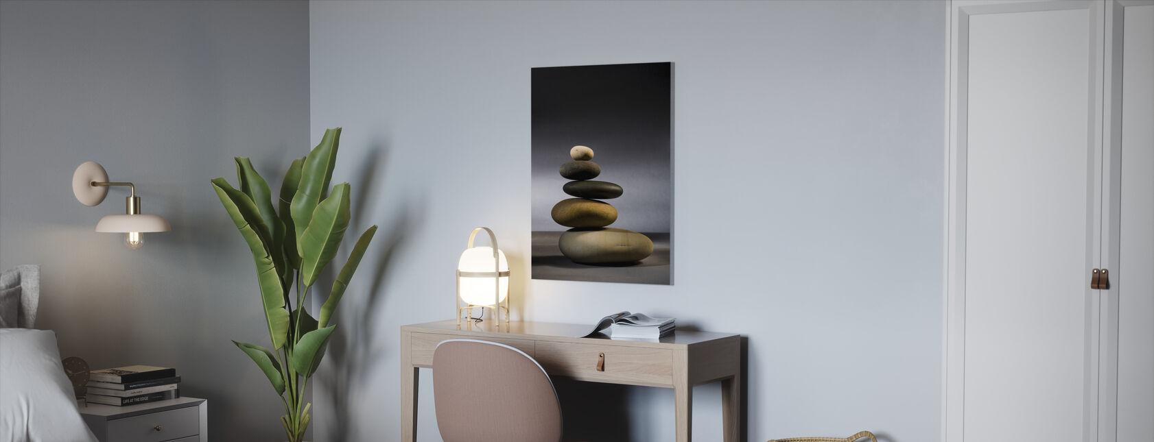 Steiner i Zen-balanse - Lerretsbilde - Kontor