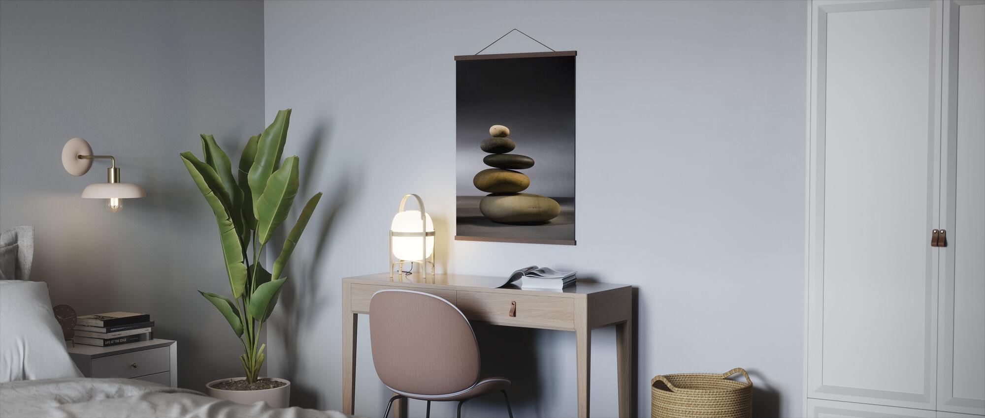 Stones in Zen Balance - Poster - Office