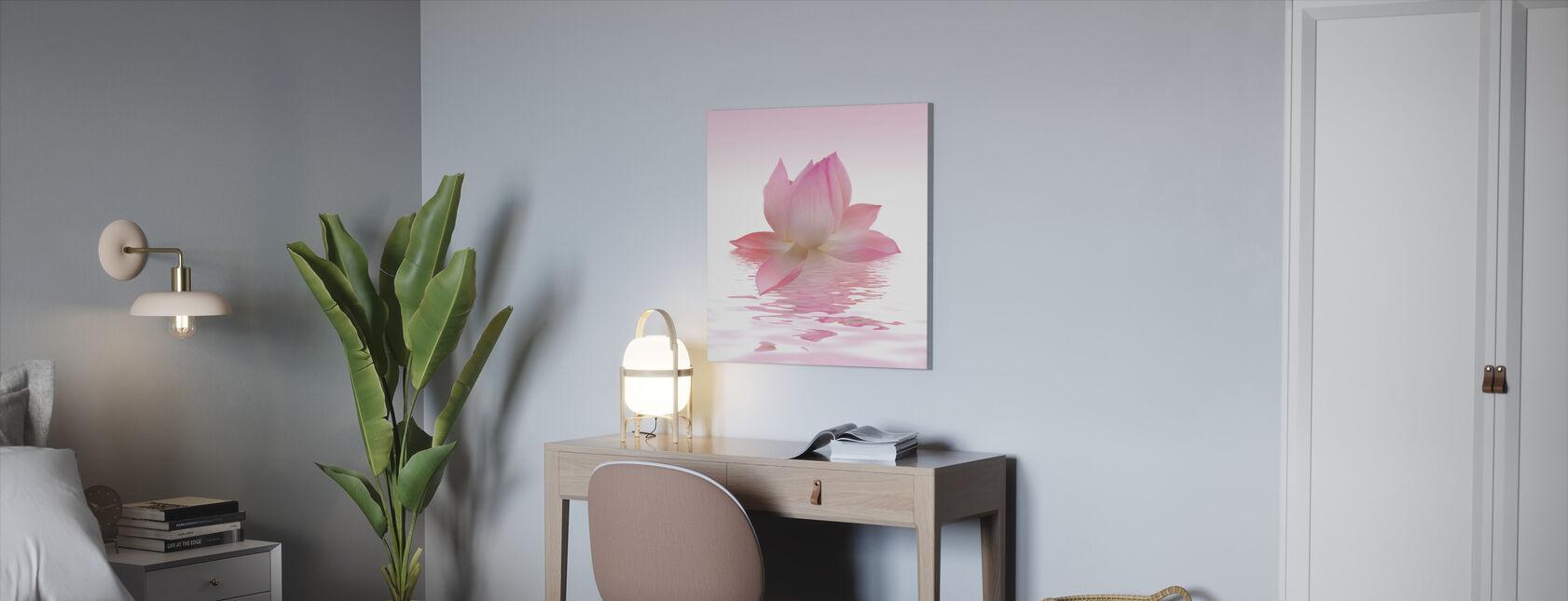 Rosa lotus - Lerretsbilde - Kontor