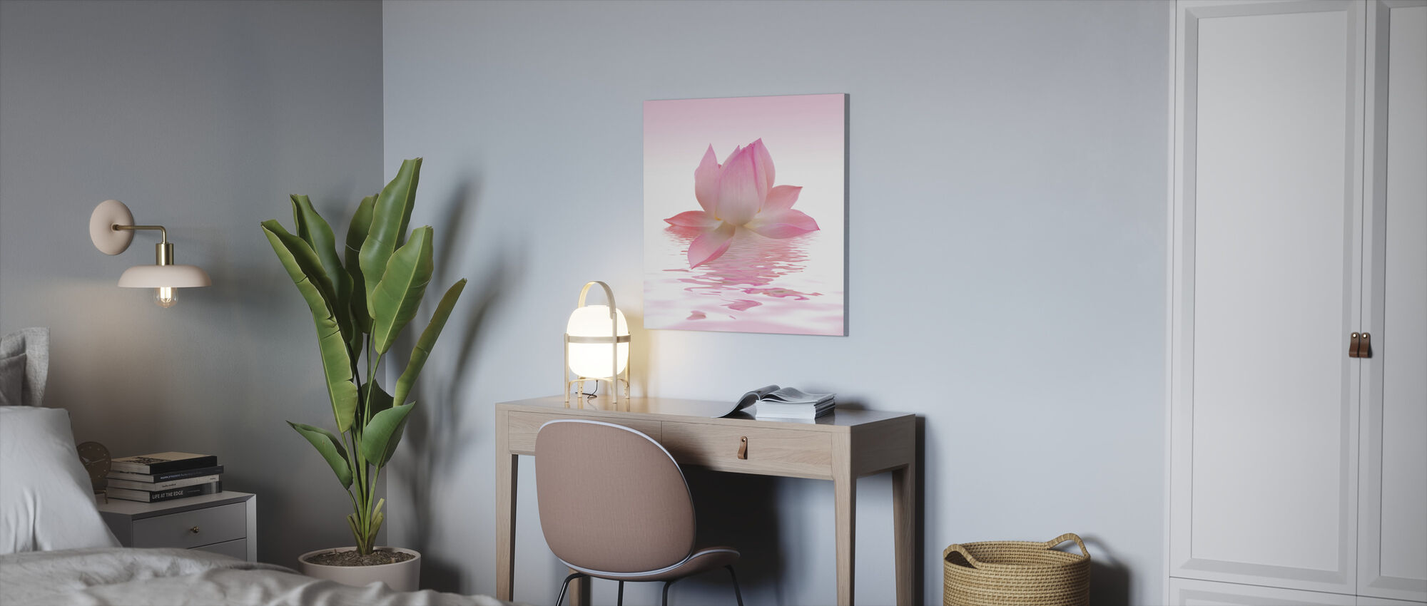 Pink Lotus - Canvas print - Office