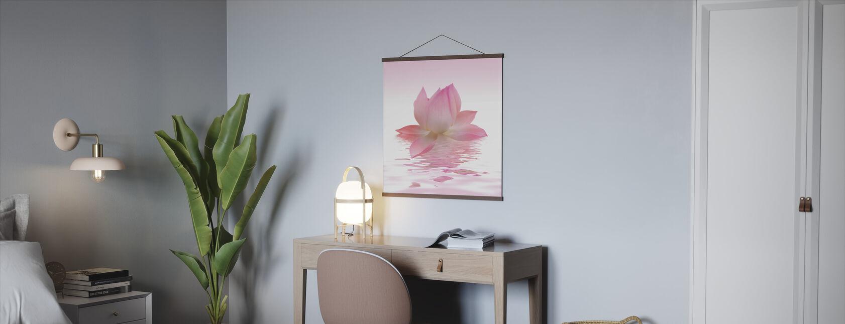 Roze Lotus - Poster - Kantoor
