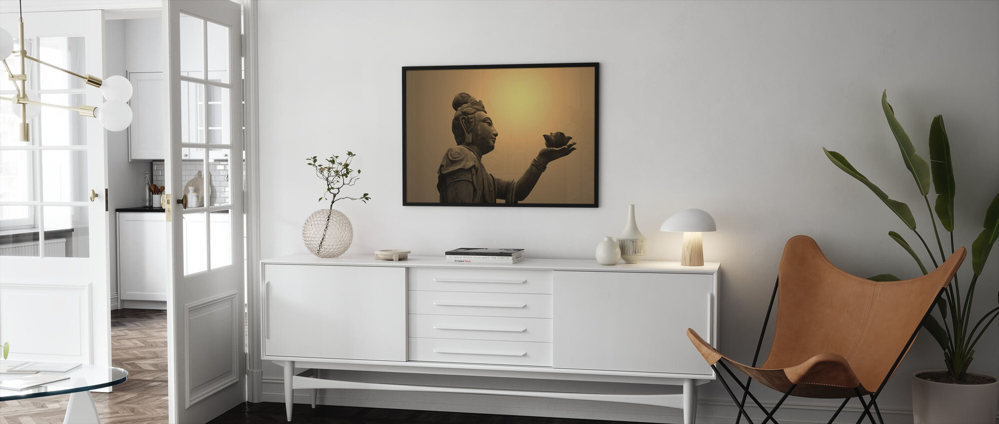 Buddhist Statue, Hong Kong - Framed print - Living Room