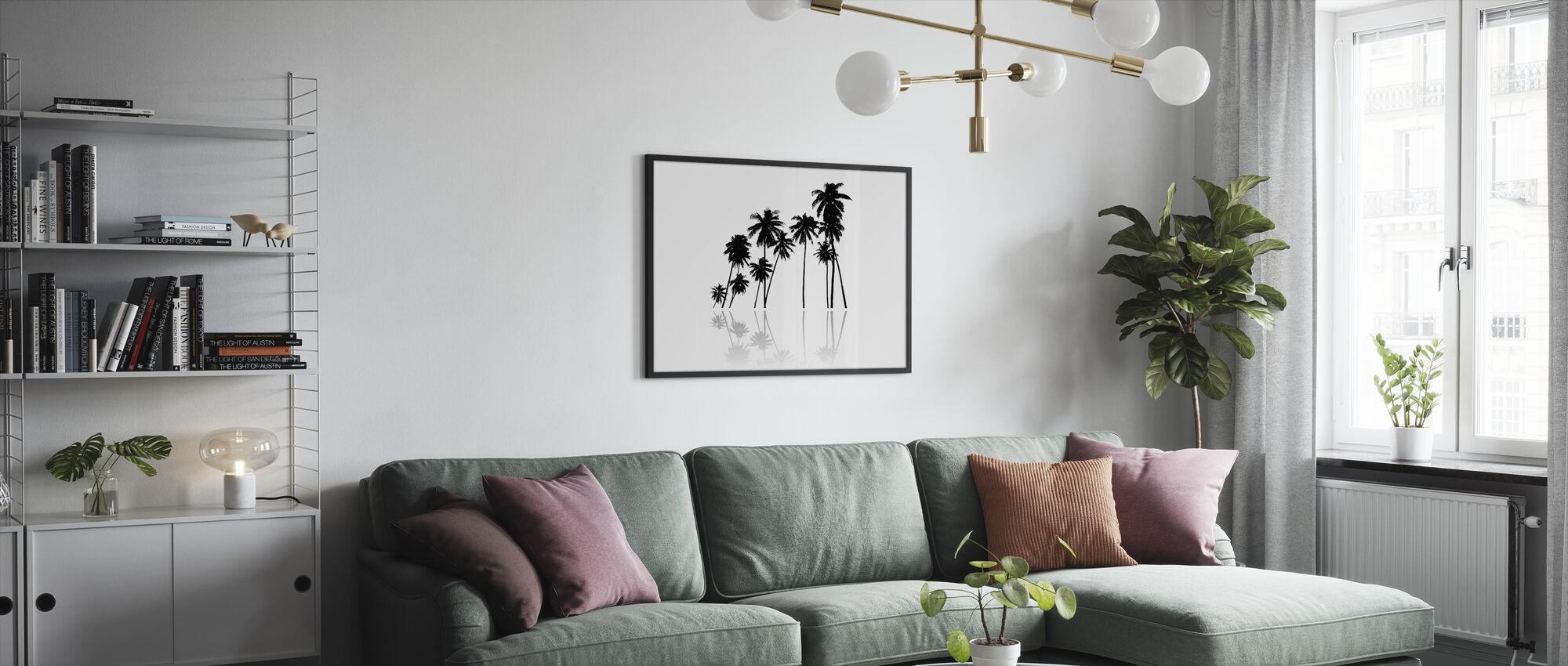 Black Palms - Framed print - Living Room