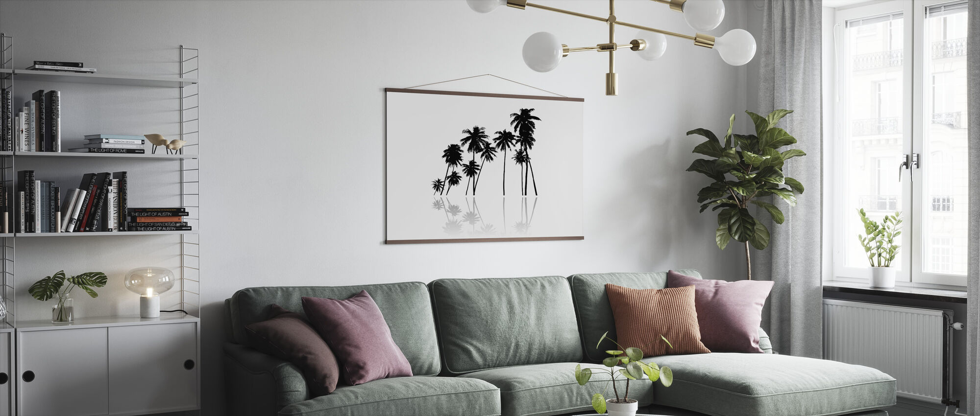 Black Palms - Poster - Living Room