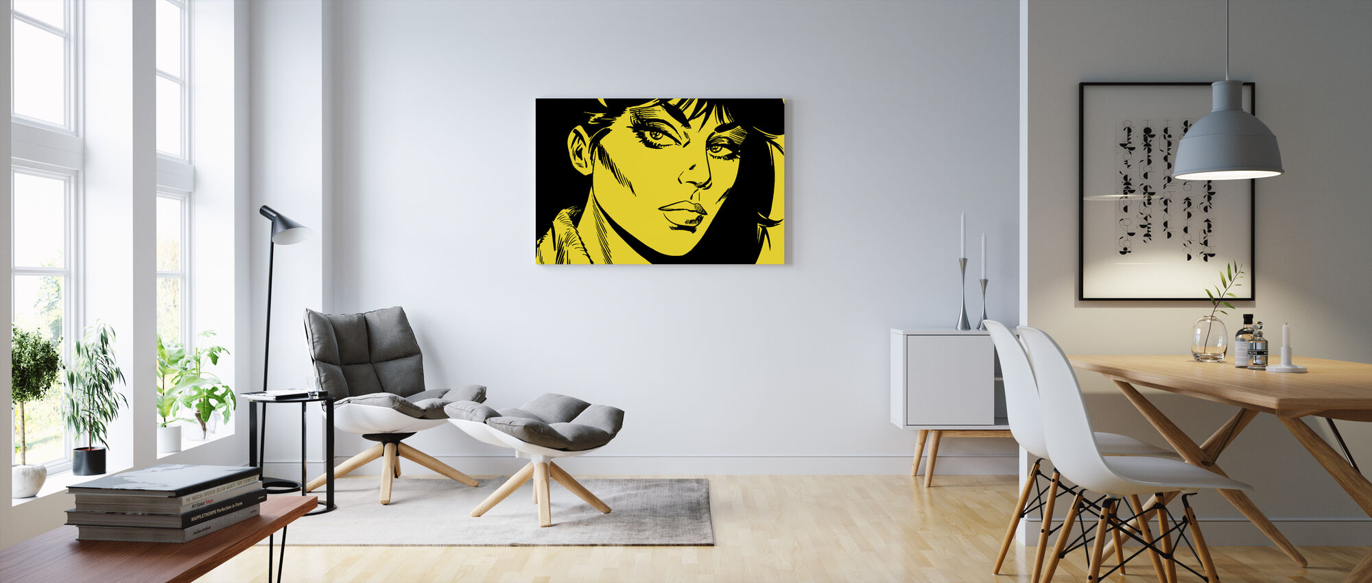 Modesty - Face Yellow - Canvas print - Living Room