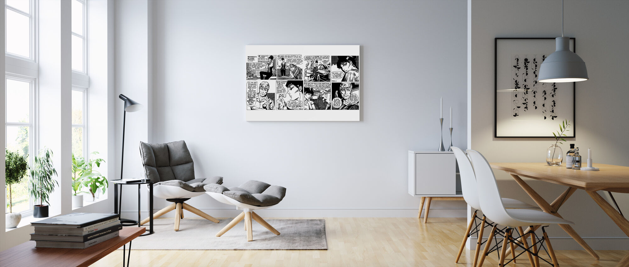 Modesty - Comic Strip 2 - Canvas print - Living Room