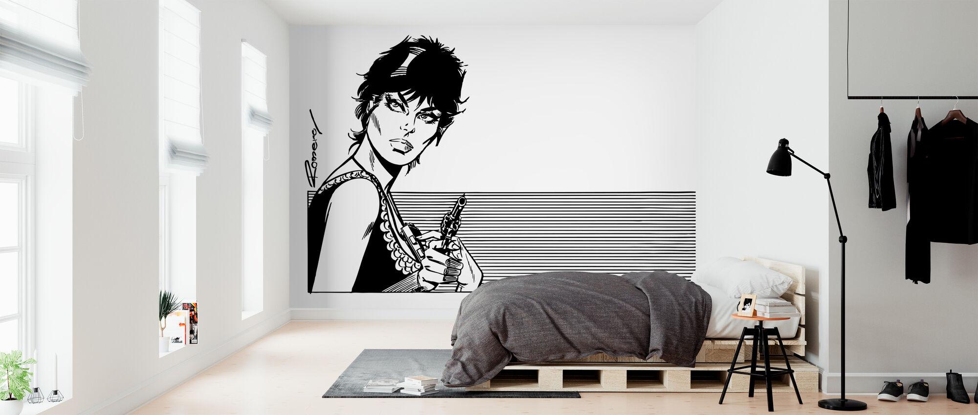 Bescheidenheid met pistool - Behang - Slaapkamer