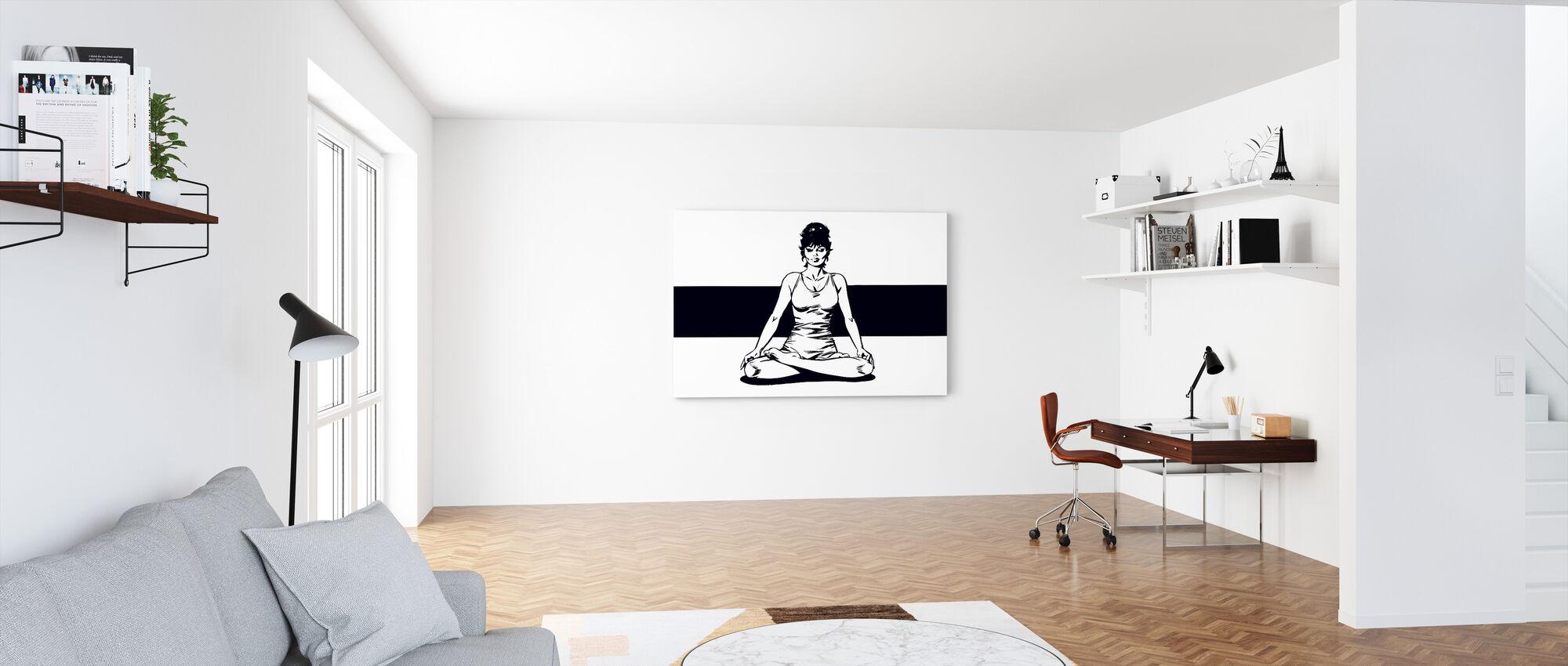 Vaatimattomuus meditoi - Canvastaulu - Toimisto