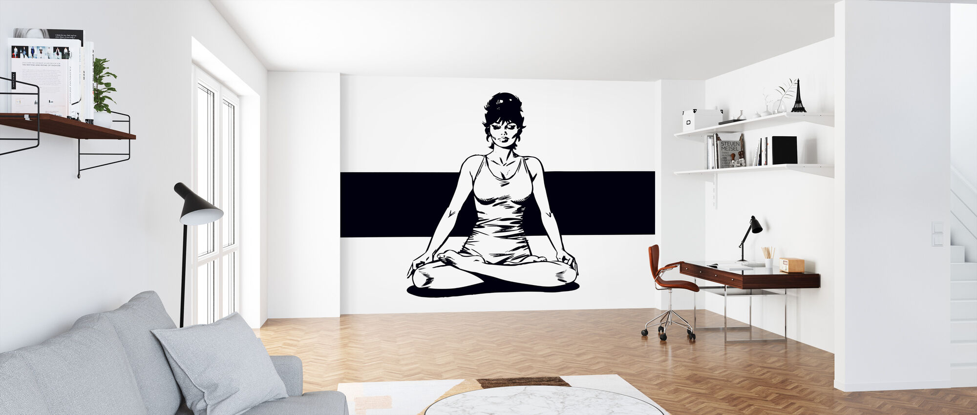 Modesty Meditates - Wallpaper - Office
