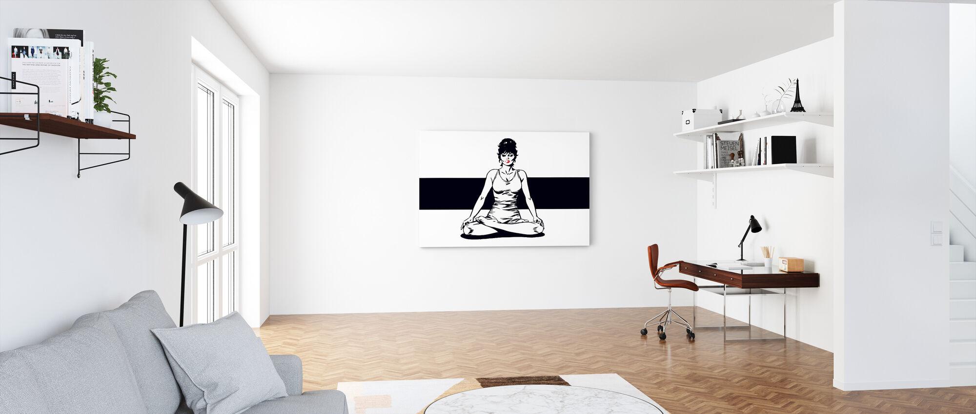 Beskjedenhet mediterer - Lerretsbilde - Kontor