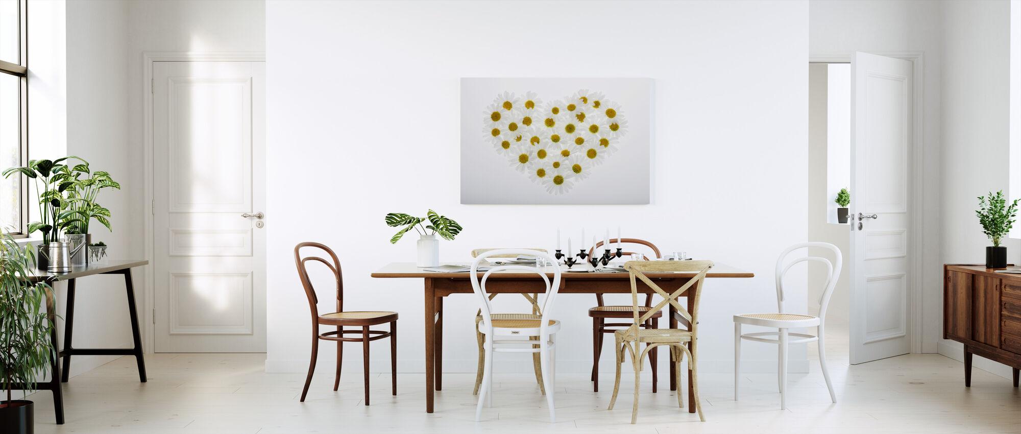 Heart of Daisies - Canvas print - Kitchen