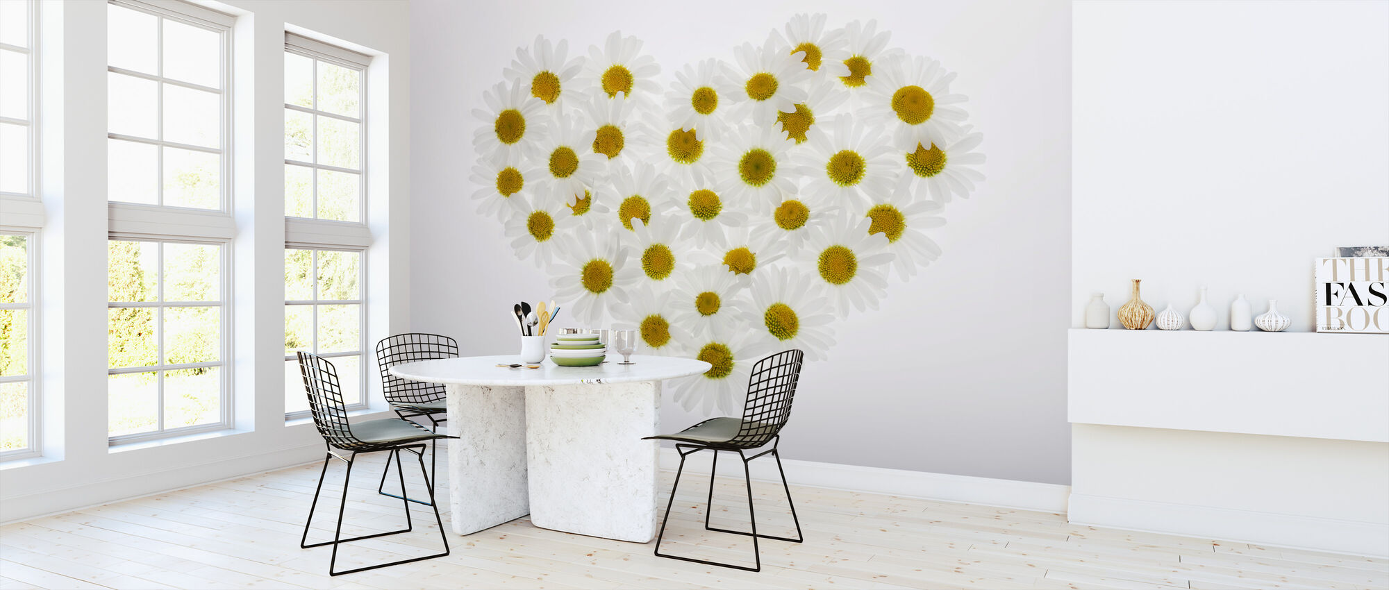 Heart of Daisies - Wallpaper - Kitchen
