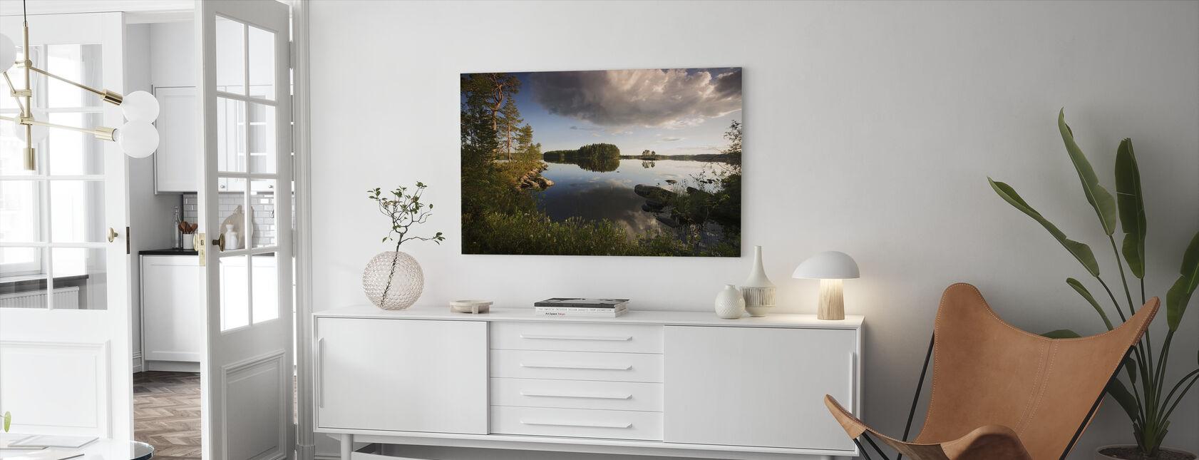 Ruotsin kesämaisema - Canvastaulu - Olohuone