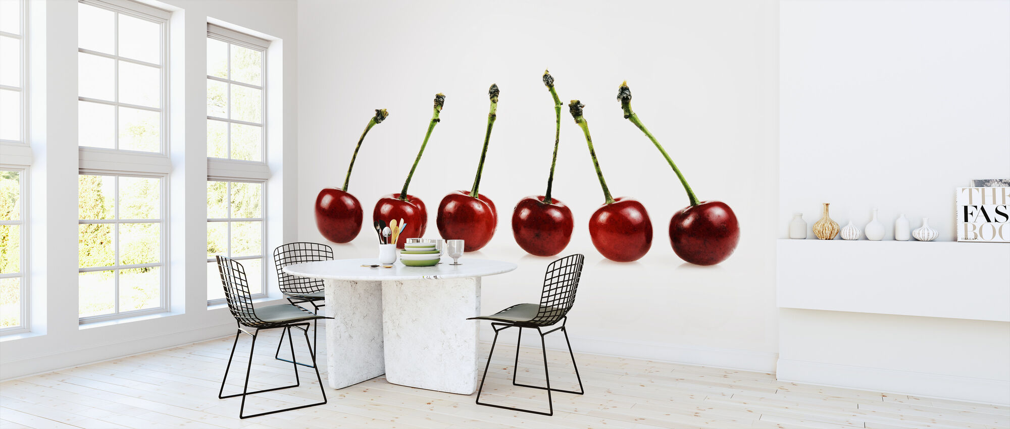 Fresh Cherries - Wallpaper - Kitchen