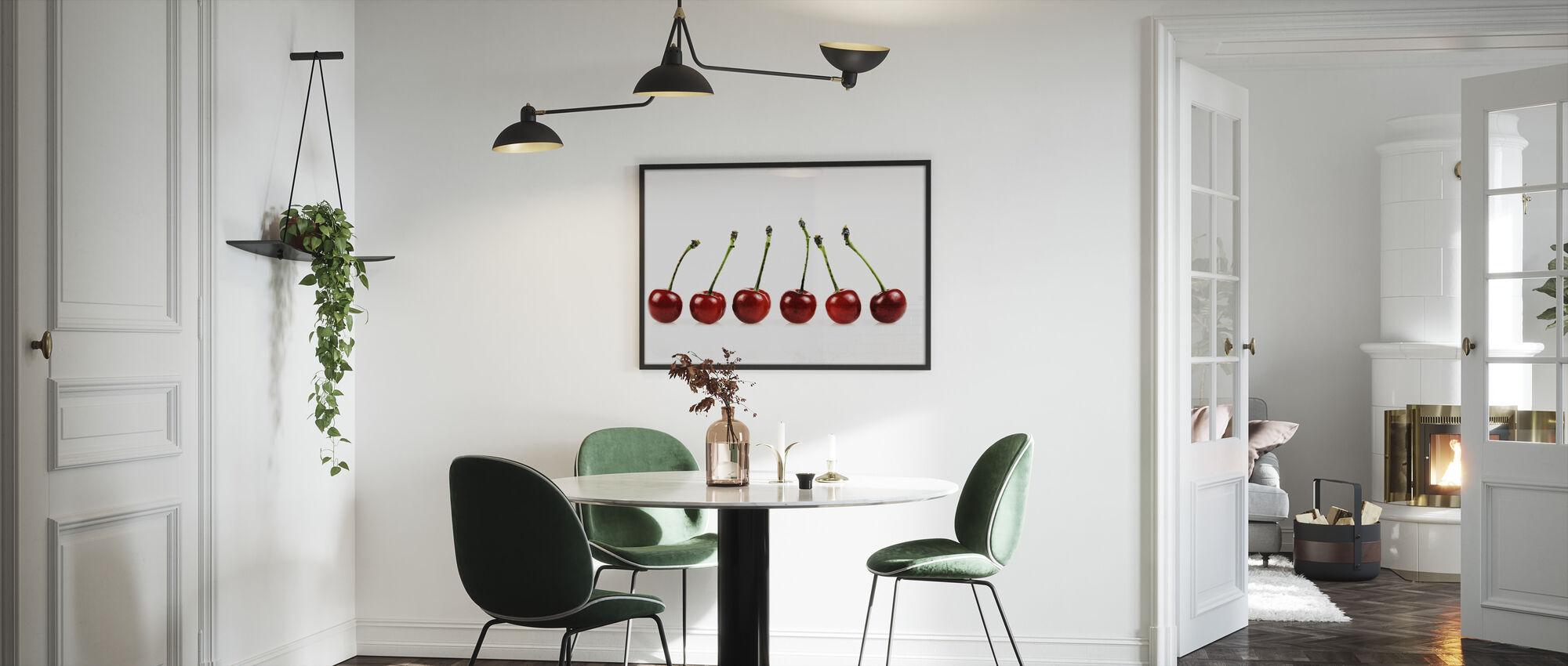 Friske Kirsebær - Indrammet billede - Køkken