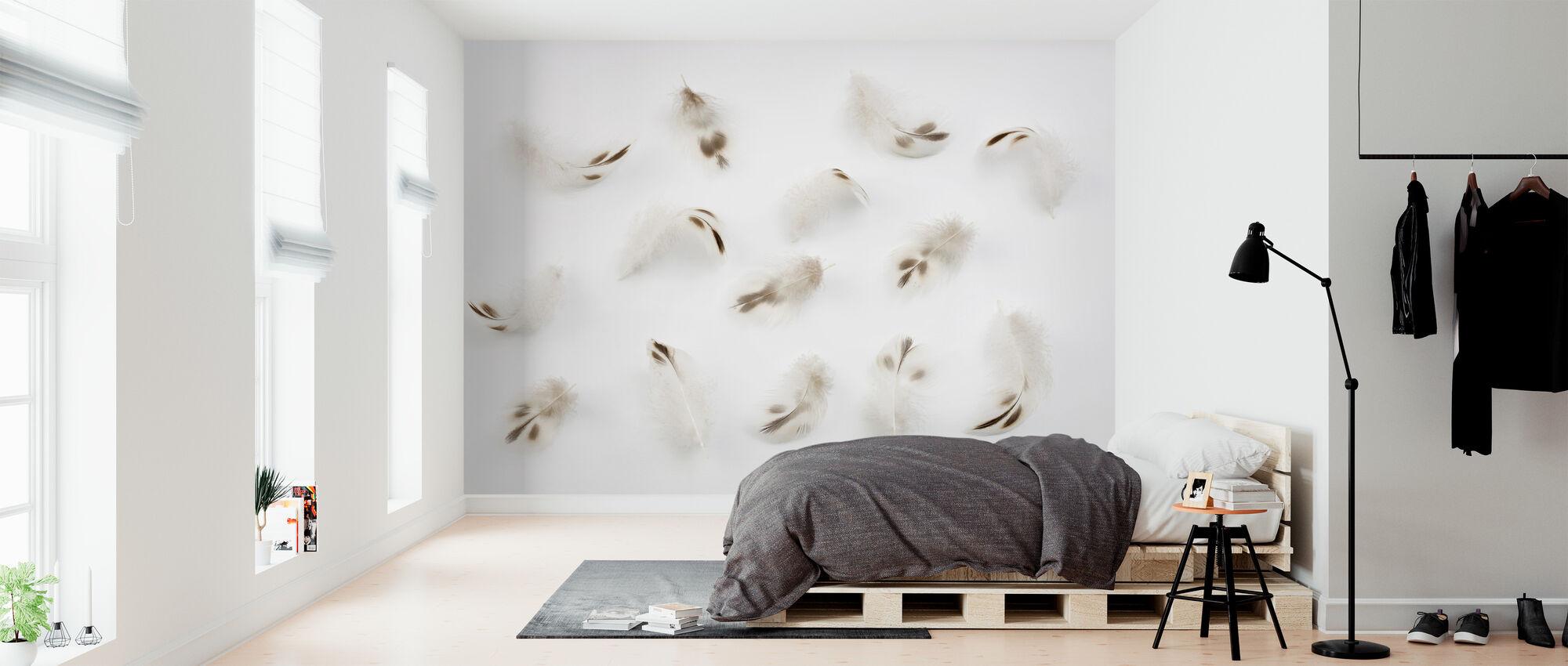 Insamling av fjädrar - Tapet - Sovrum