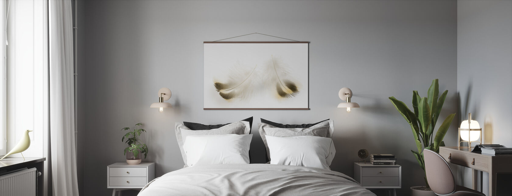 Pair of Feathers - Poster - Bedroom