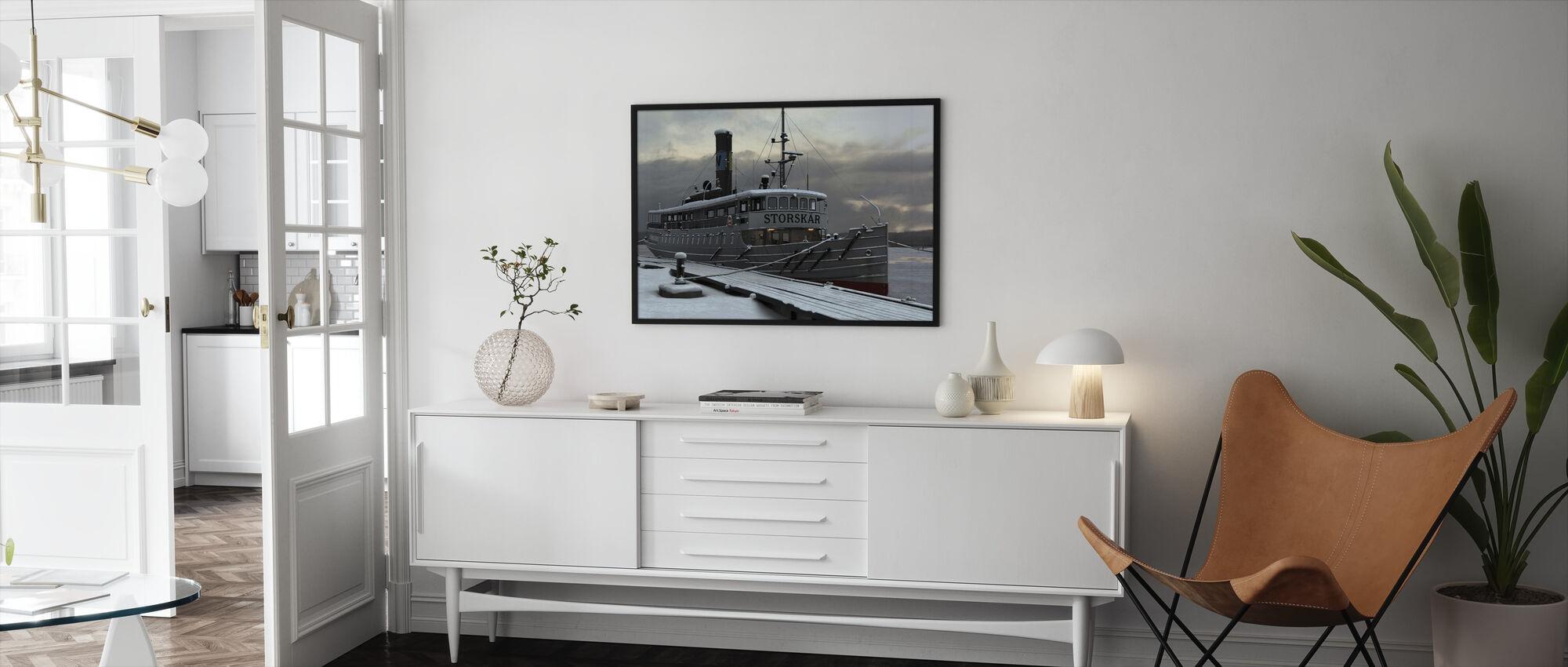 Waxholm Boat - Framed print - Living Room