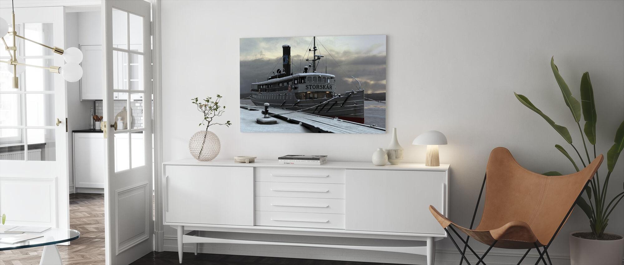 Waxholm Boat - Canvas print - Living Room