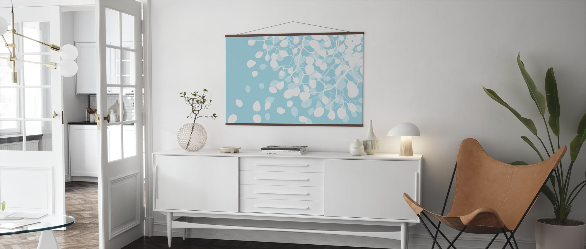 Birch - Turquoise - Poster - Living Room