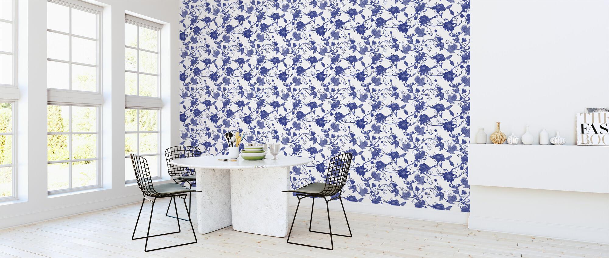 Botanica - Blue - Wallpaper - Kitchen