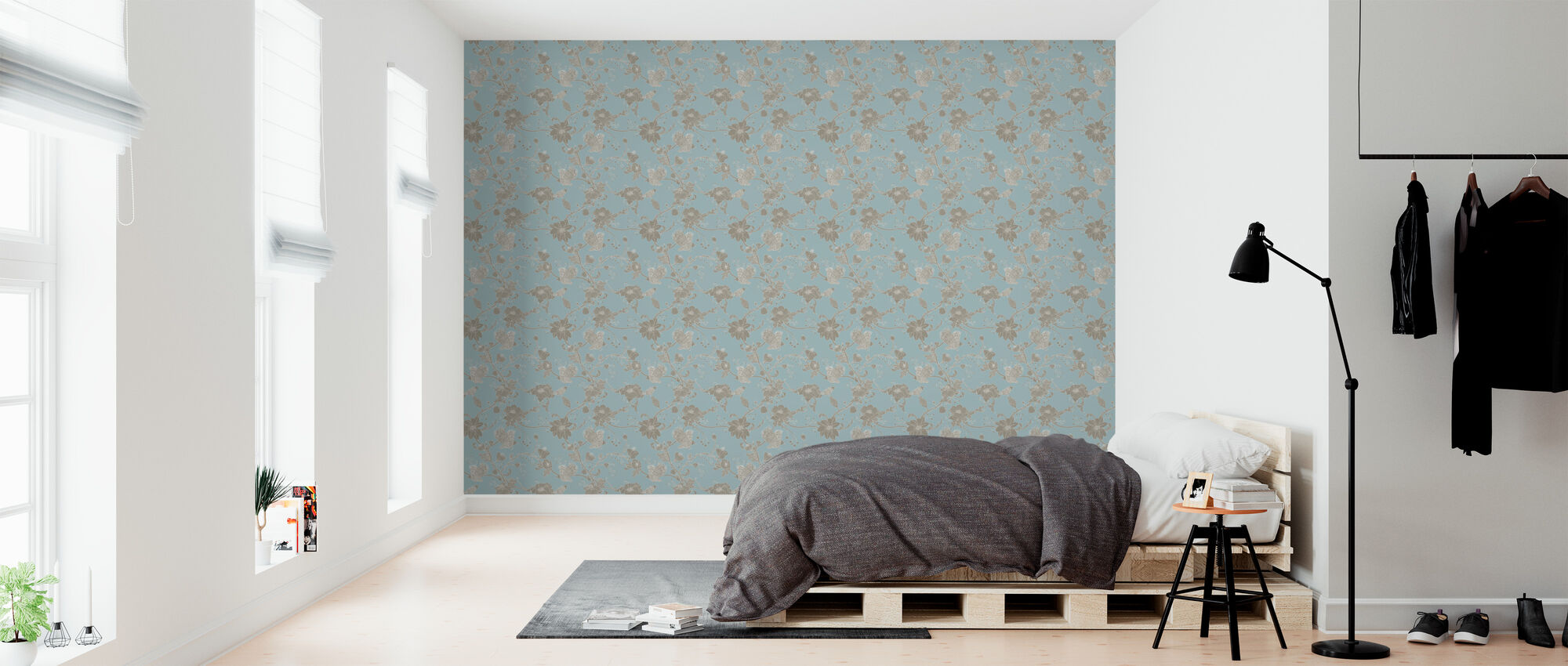 Botanica - Turquoise - Wallpaper - Bedroom