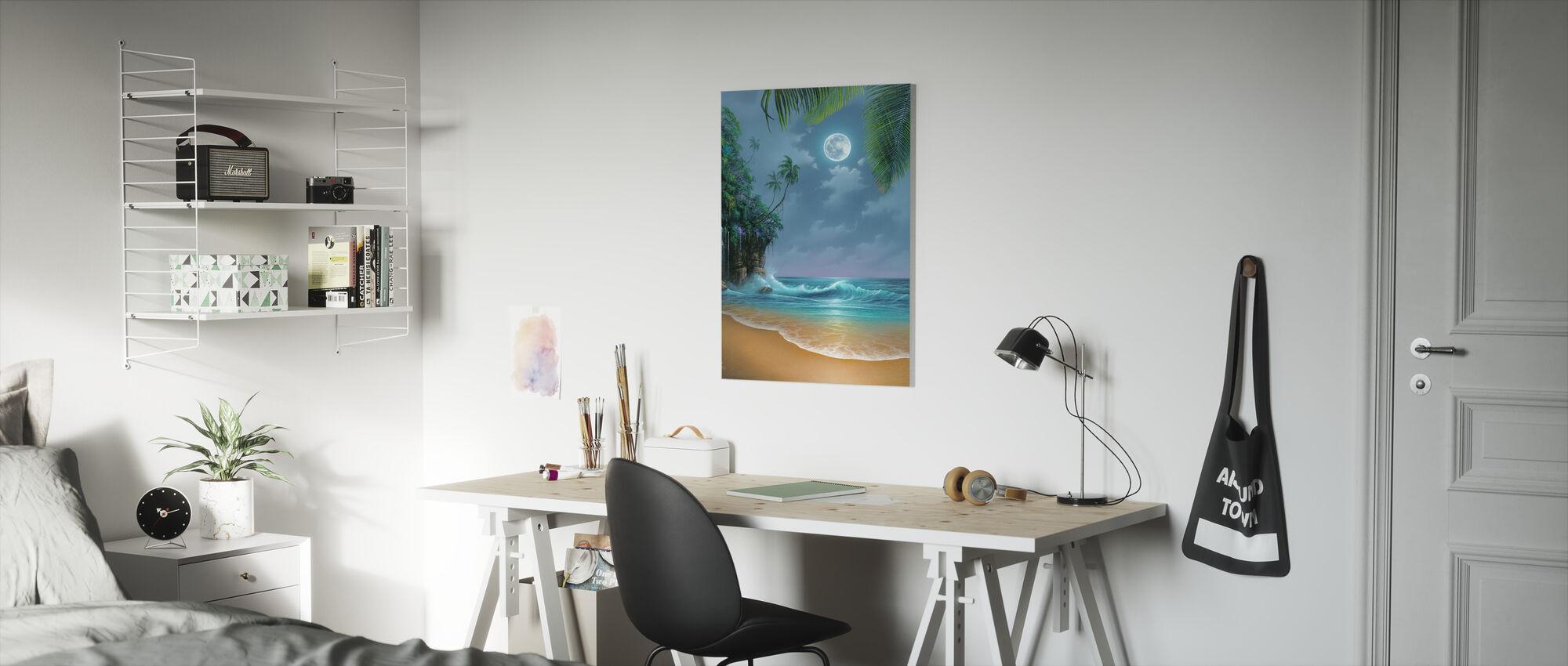 August Moon - Canvas print - Kids Room