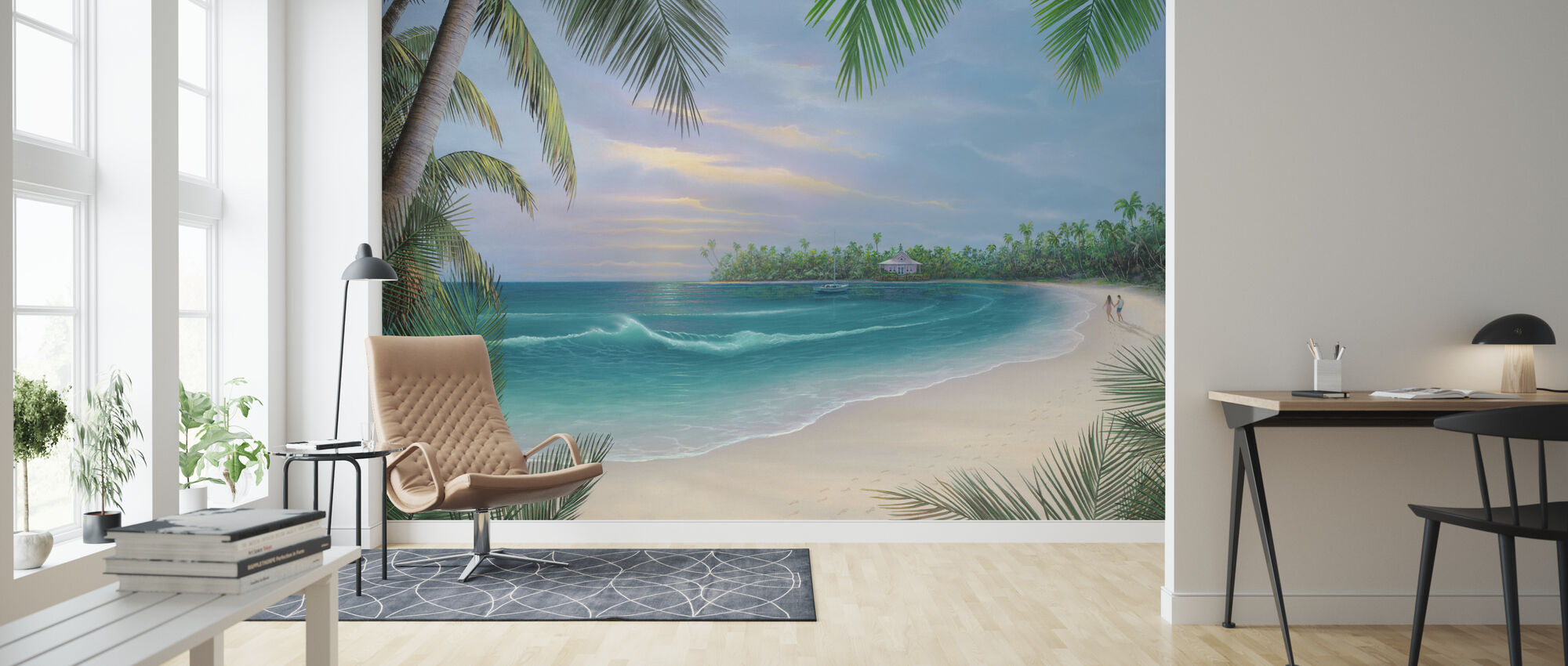 Beach House Rendezvous - Behang - Woonkamer