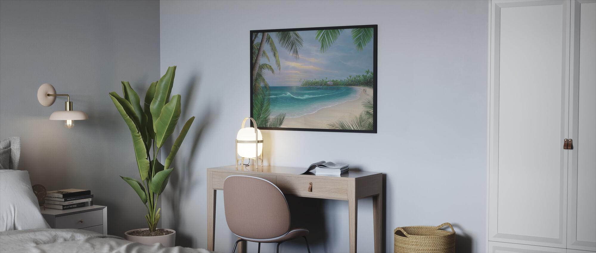 Beach House Rendezvous - Framed print - Bedroom