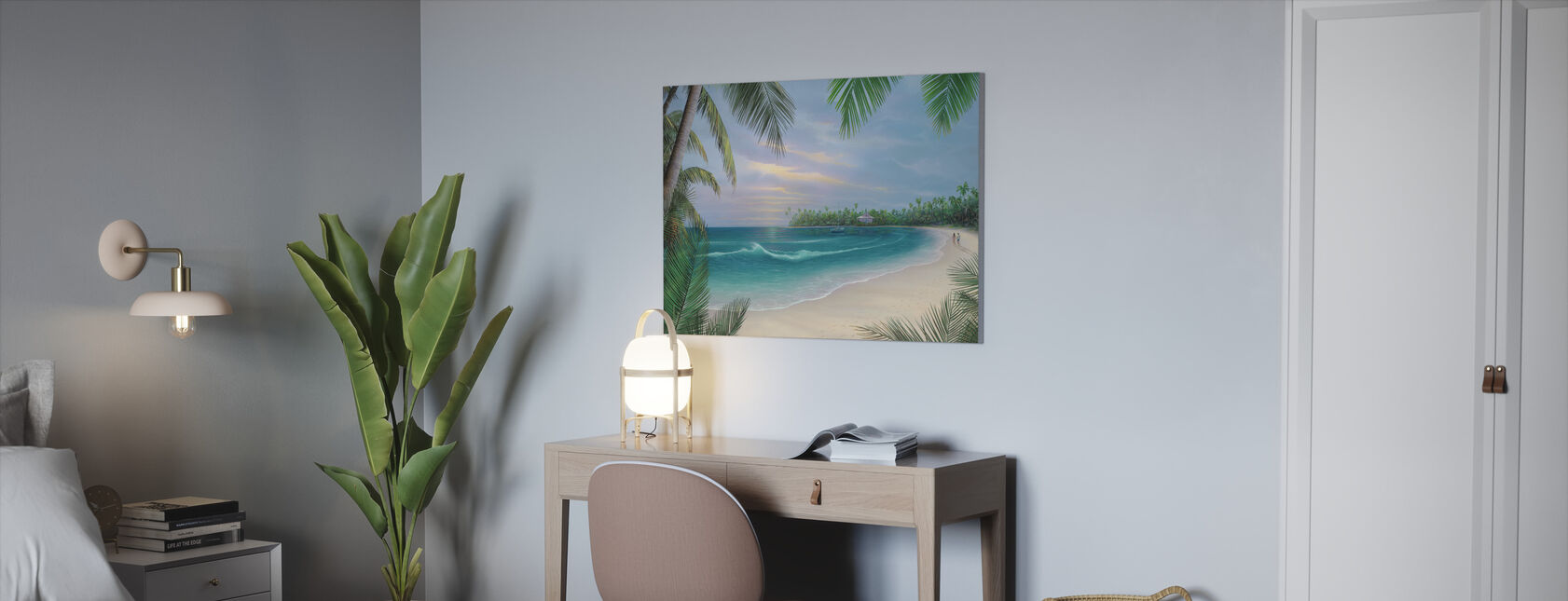 Beach House Rendezvous - Canvas print - Office