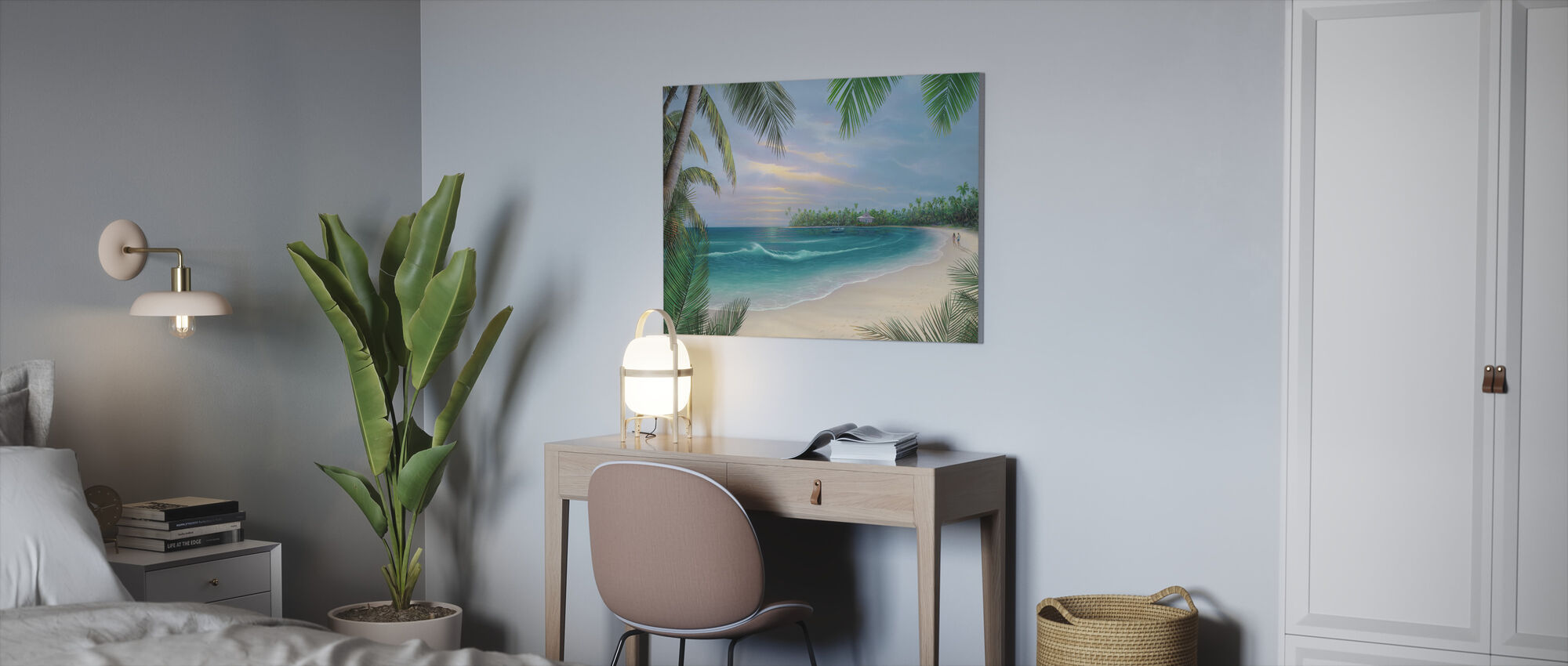 Beach House Rendezvous - Canvas print - Kantoor