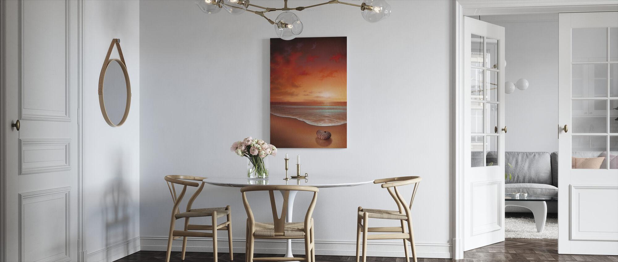 Crimson tidevann - Lerretsbilde - Kjøkken