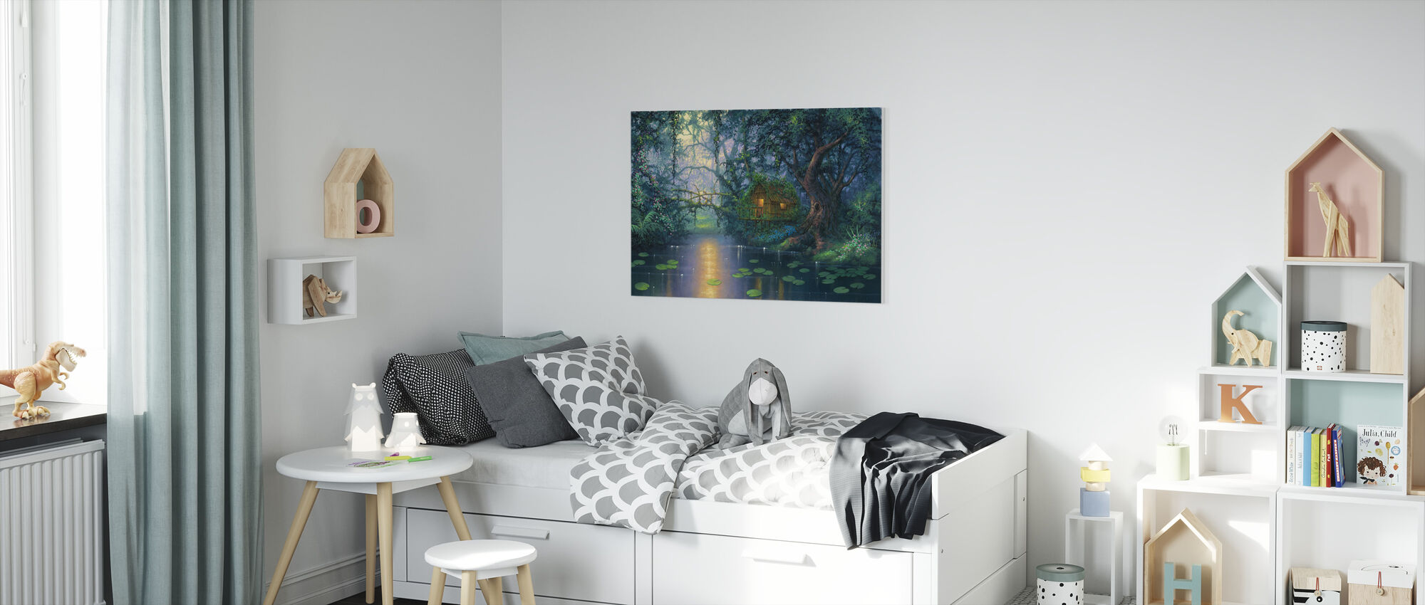 Little Grass Shack - Canvas print - Kids Room