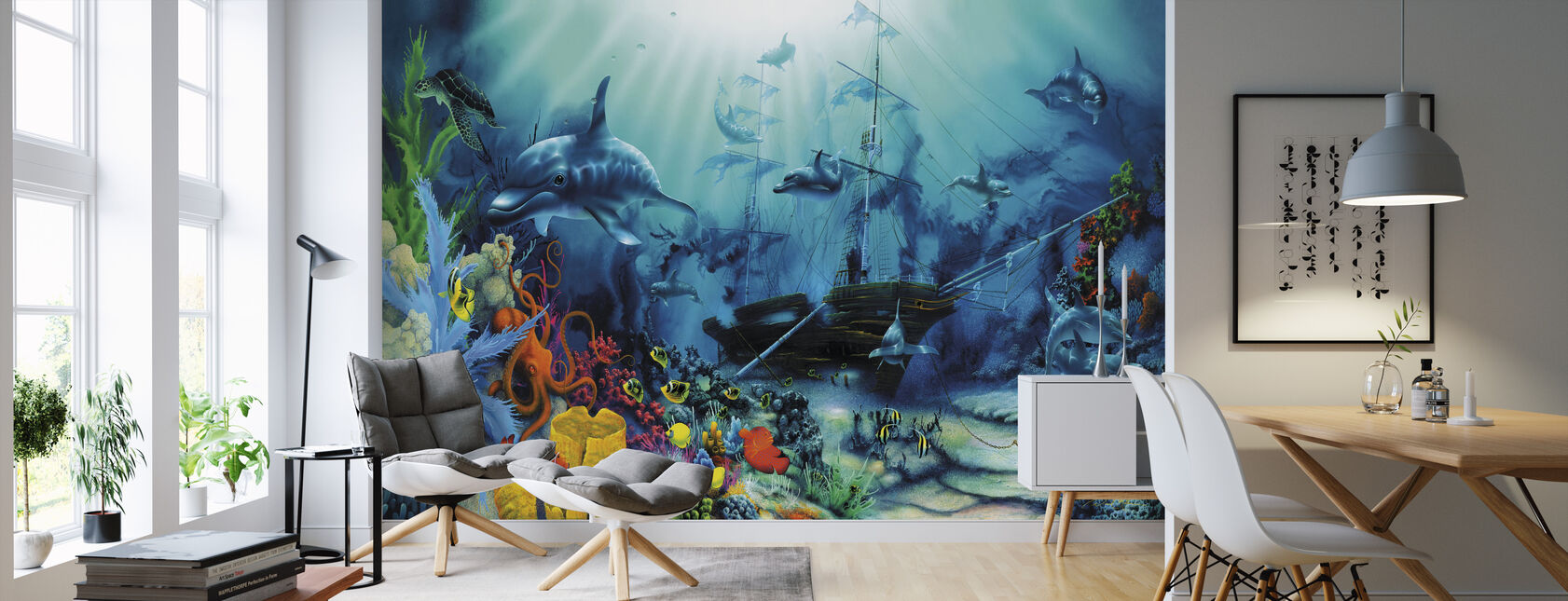 Ocean Treasures - Wallpaper - Living Room