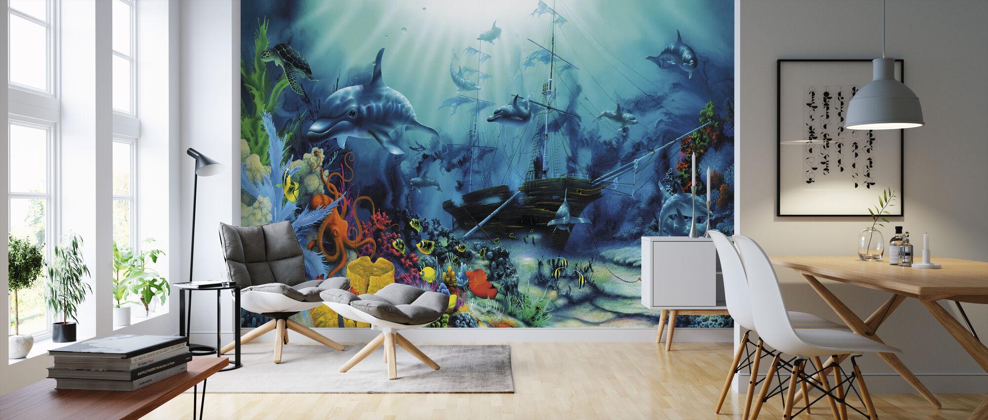Ocean Treasures - Wallpaper - Living Room