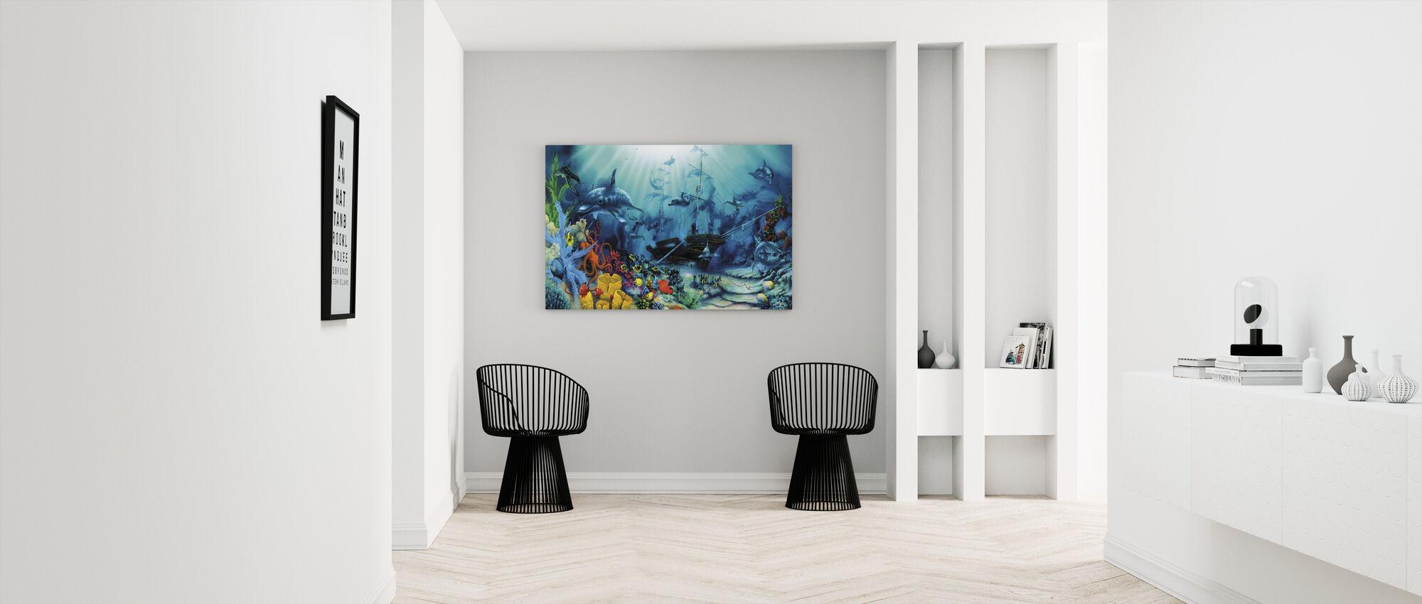 Havet skatter - Lerretsbilde - Gang