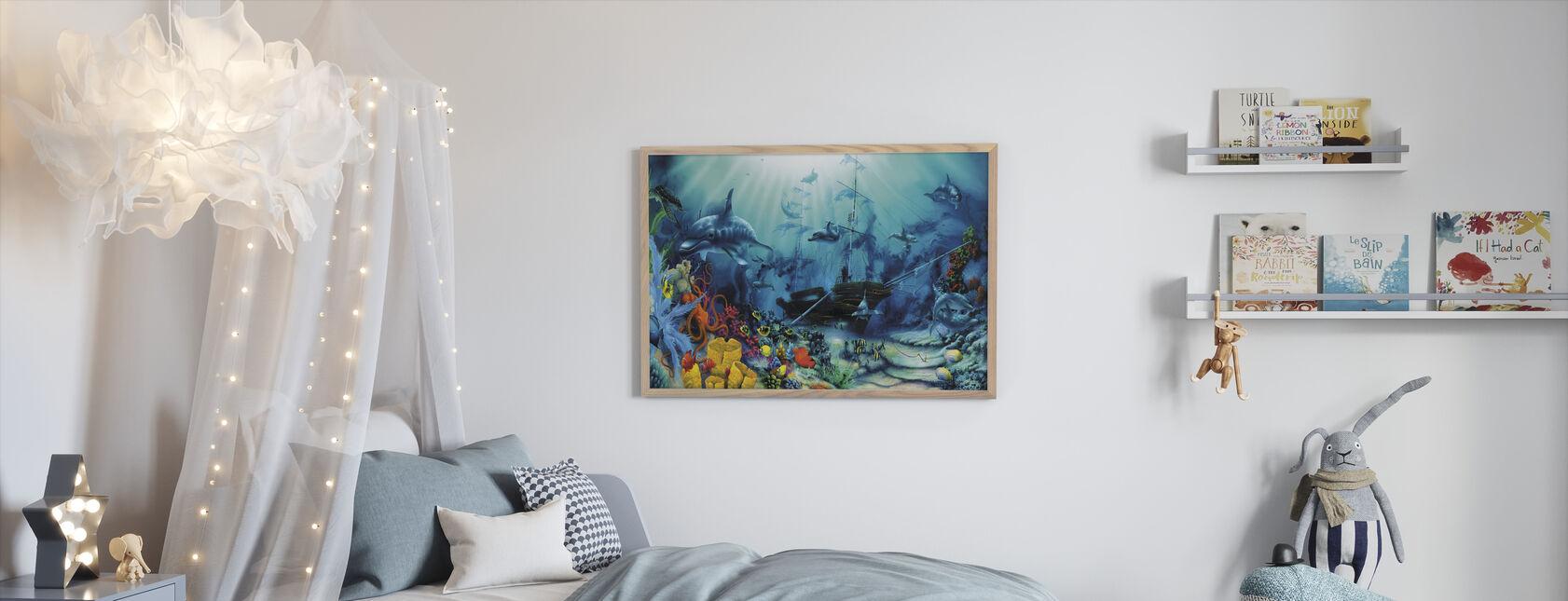 Schatten van de oceaan - Ingelijste print - Kinderkamer
