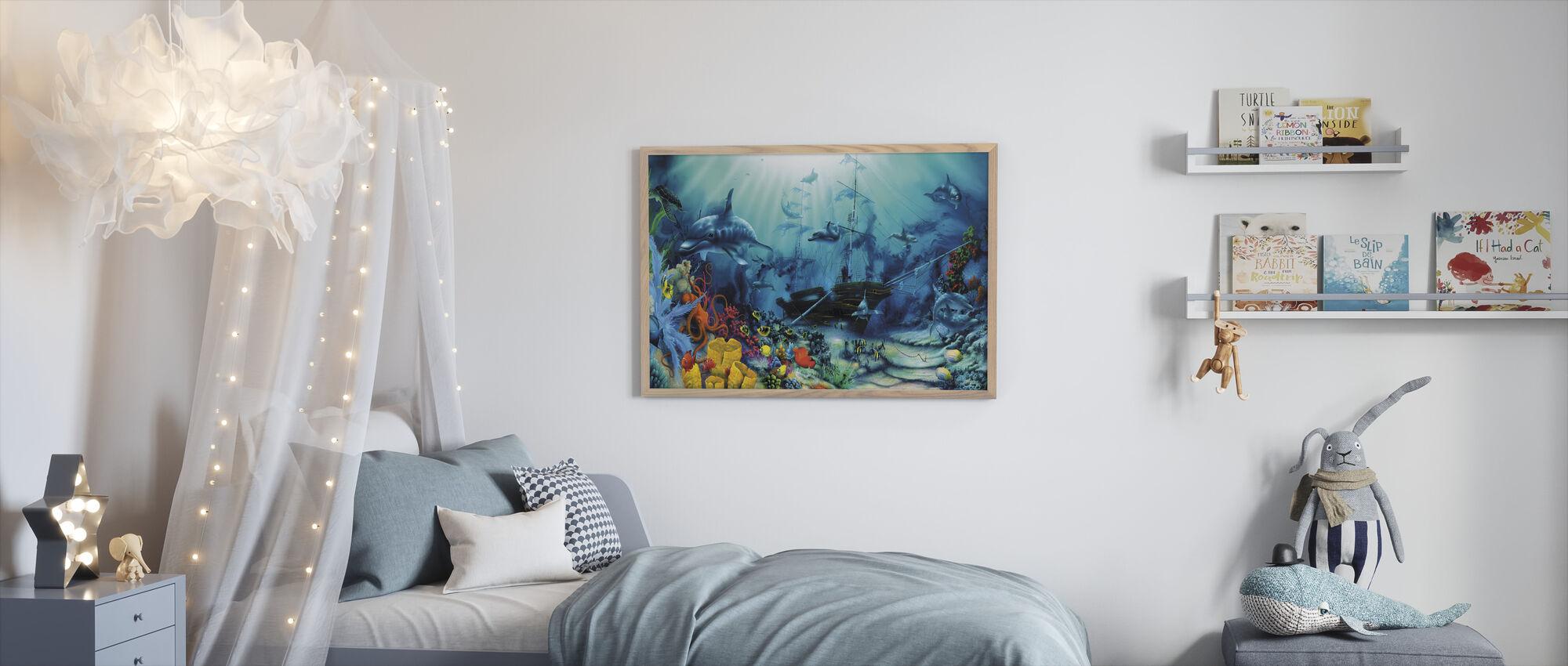 Havet skatter - Innrammet bilde - Barnerom